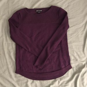 Cable & Gauge eggplant sweater, small